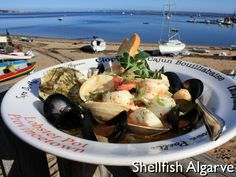 Shellfish Algarve  Shrimp, mussels, littlenecks, scallops, fish and calamari steamed in a delicate blend of olive oil, butter, garlic, bayleaf and a hint of crushed red pepper.