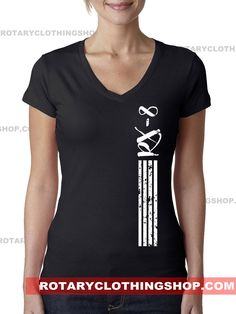 Rx-8 Stripes -Ladies top -Rotary Engine - Graphic Tshirt - Mazda rx8 - women apparel - racing tee - v-neck - Rx8 shirt by ROTARYCLOTHINGSHOP on Etsy