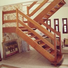 Stair Railing Design, Home Stairs Design, Interior Stairs, Railings, Rustic Stairs, Wooden Stairs, Pole Barn House Plans, Pole Barn Homes, House Staircase