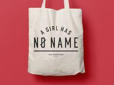 Tote Bag a Girl has no name, sac en coton, sac en toile, sac de courses, sac de plage, citation humoristique, typographie, game of thrones