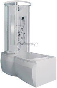 Wanna wielofunkcyjna WWL(P)/CO, Comfort, 630-230-0640-10-400, SANPLAST, profil biały, wypełnienie W0.  Wanna wielofunkcyjna lewa lub prawa to kompletny produkt zapewniający pełne zadowolenie z kąpieli i hydromasażu. Zestaw zawiera wannę asymetryczną WAL(P)/CO 85x160, kabinę nawannową KWAL(P)/ASP 85x160 oraz panel prysznicowy z dyszami natryskowymi do hydromasażu..