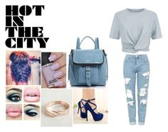 """Untitled #535"" by rasberry893 ❤ liked on Polyvore featuring T By Alexander Wang, Topshop, Botkier and OPI"