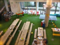 Innocent HQ- office meets picnic, what's not to love? We at paintingpixels.co.uk were inspired by this office!