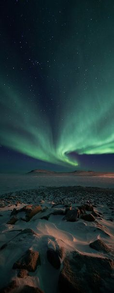 Adam Hill Studios - Aurora Borealis and Northern Landscape Photography- Aurora over 3 Hills, Ulukhaktok