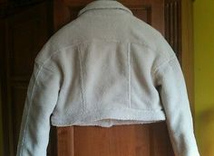 NWOT BDG Nordstrom Rack Faux Sheep Creme Cropped Jacket, Sz Small