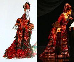 "Phantom of the Opera, Carlotta's ""Don Juan Rehearsal"" dress, (Maria Bjornson)"