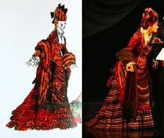 "Phantom of the Opera, Carlotta's ""Don Juan Rehearsal"" dress, (Maria Bjornson)"