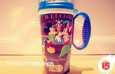#momentoEnjoy15 es desayunar en las jarritas de #Disney!!!