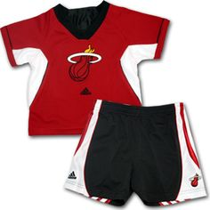 Miami Heat Kids Outfit...includes performance shirt and matching shorts for your toddler! #miamheat