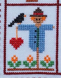 """EMBROIDERY – CROSS-STITCH / BORDERIE / BORDUURWERK - Sal's """"My little heart"""" Part 9, Free Download"""