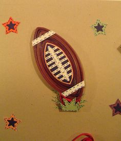 paper quilling football - Google Search