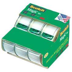 Scotch Magic Tape 3105, 3/4 x 300 Inches, Pack of 3 Scotch https://www.amazon.com/dp/B0009F3P3U/ref=cm_sw_r_pi_dp_YK7IxbTFT3RPS