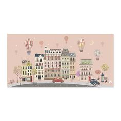 Sweet Street at Dusk Wall Art in All Wall Art   The Land of Nod