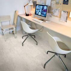 Vinylová podlaha Expona Domestic 5926 White Metalstone - doprodej Office Desk, Corner Desk, Furniture, Kitchen, Home Decor, Wood Boards, Labor Positions, Houses, House Decorations