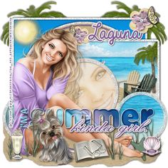"I have made a animated tag with the beautiful template made by Dee: ""Summergirl""(Template I found it because of a template challenge. Freebies, 3d Girl, Paint Shop, The Dreamers, Tube, Paradise, Digital Art, Princess Zelda, Animation"