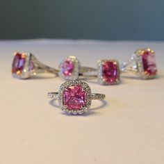 I can't help it...I've got a pink sapphire and diamond ring obsession!