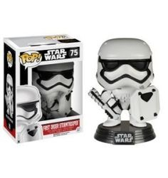 This is the Star Wars Force Awakens First Order Stormtrooper POP Vinyl Figure that's produced by the nice folks over at Funko. The First Order Stormtrooper looks great in his Force Awakens POP Vinyl f Star Wars Episoden, Funko Pop Star Wars, Star Wars Toys, Star Wars Collection, Pop Collection, Pop Vinyl Figures, Toy Art, Star Wars Episodio Vii, Regalos Star Wars