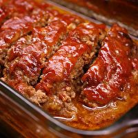 Family Favorite Meatloaf by Best of Bridge...my husband hates meatloaf, but he loves this recipe.  The sauce is delish!