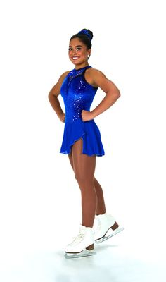 New Jerrys Competition Skating Dress 106 Lace Drop Blue Made on Order | eBay