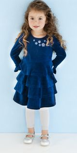 Navy Velour Holiday Dress With Silver Glitter Tights? YES Please. www.peekabookids.com