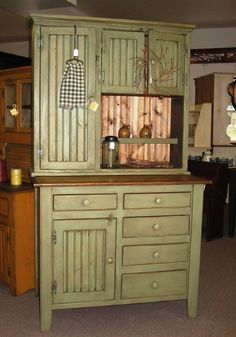 I grew up with a Hoosier Cabinet in my pantry.