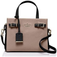 Kate Spade Holden Street Small Lanie ($298) ❤ liked on Polyvore featuring bags, handbags, shoulder bags, cross body, kate spade purses, crossbody purse, leather crossbody, kate spade handbag en brown shoulder bag