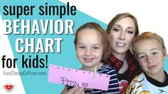 World's SIMPLEST behavior chart - works for kids of all ages and works IMMEDIATELY! Free printable included! From FunCheapOrFree.com
