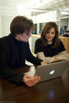 Matt Smith and Jenna Louise Coleman. :)