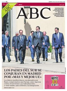 La portada de ABC del martes 11 de abril