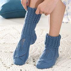 OHJE: Pitsilehti-sukat 6-säikeisestä langasta kivat