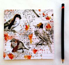 love birds by Randi Antonsen by claravox on Etsy