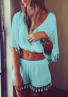 Jumpsuits and Rompers - V-Back Double Layer and Ruffled Sleeves Rompers | Page 2 | Lookbook Store