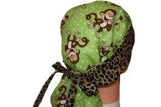 Surgical Scrub Hat  Scrub Cap   Tie Back  by ScrumptiousScrubHatz, $20.99