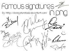Firmas de famosos PNG//Famous signatures in PNG by AguustiinaEditions on DeviantArt
