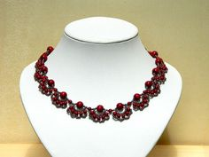 Gothic Vampire ooak beaded necklace with blood by YANKAcreations, $30.00