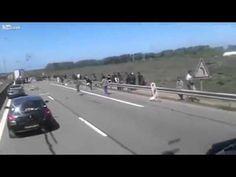 Angry Truck Driver vs Migrants at Calais (Eng subtitles) - YouTube