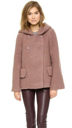 Jill Stuart Temple Wool Coat | The color, edges, & pockets need work. Other than that, I quite like this.