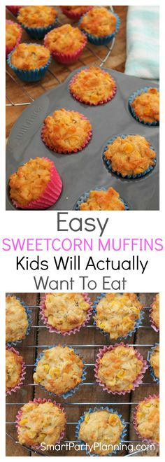 Looking for an easy sweetcorn muffins recipe that the kids will actually eat? This is the recipe for you. The bite sized muffins are perfect for little hands and with the super easy recipe they can be made in minutes. Great as an on the go breakfast or pe Hot Cocoa Recipe, Cocoa Recipes, Hot Dog Recipes, Coffee Recipes, Baking Recipes, Sweetcorn Bake, Kids Meals, Easy Meals, Muffin Recipes
