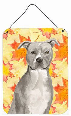Staffordshire Bull Terrier Fall Wall or Door Hanging Prints BB9500DS1216