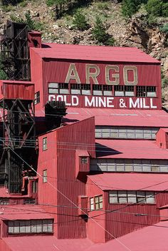 Closeup Of Remnants Of The Argo Gold Mine And Mill Idaho Springs Colorado