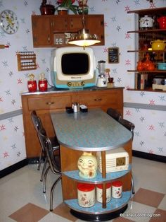 "I would love this as my kitchen, I could even put my ipad in a custom frame as a retro ""tv"" and watch Julia Child! PP:  50's Prime Time Cafe- love this place at Hollywood Studios!"
