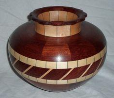 Bubinga vase with scalloped top by ThomasTurnings on Etsy