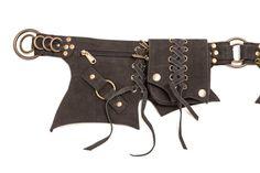NEW!! Leather Lace Belt: bumbag, fanny pack, pocket belt, utility, festival pockets, nomad, gypsy, traveller, moneybelt, burner burningman,