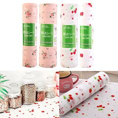 Kitchen Liner Print AntiBacterial Drawer Cabinet Mat Pad Table 30300500Cm Pink Small