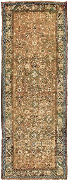 Olive 3' 7 x 9' 9 Hossainabad Persian Runner Rug | Persian Rugs | eSaleRugs