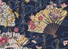 Stoff japanische Motive - JAPAN FÄCHER Stoff Nr. 140942 - ein Designerstück von rbaudisch bei DaWanda