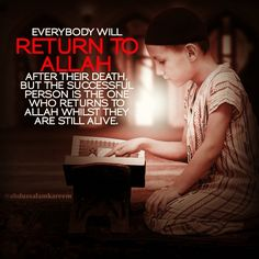 You will return to Allah