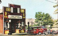 Ann Arbor Uniform Store -- 1960s postcard.
