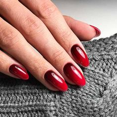 18 Red Nails Designs for Any Occasion ★ Red Nails with Ombre Design Picture 1 ★ See more: http://glaminati.com/red-nails-designs/ #rednails #rednaildesigns