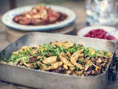Mammas gnocchi med svamp och prosciutto | Recept.nu